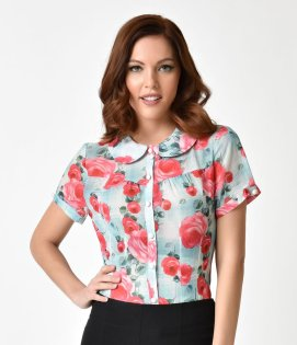 Hell_Bunny_1950s_Style_Mint_Floral_Chiffon_Suzannah_Blouse