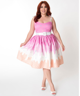 Collectif Ice Cream Swing Dress