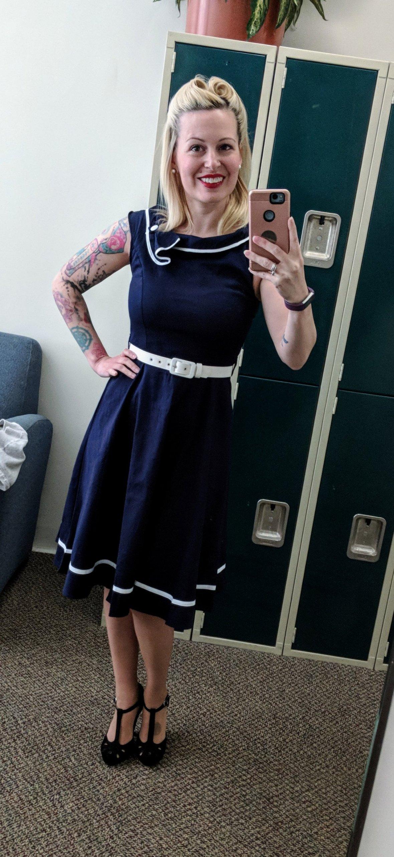Vintage Nautical Dress from Amazon
