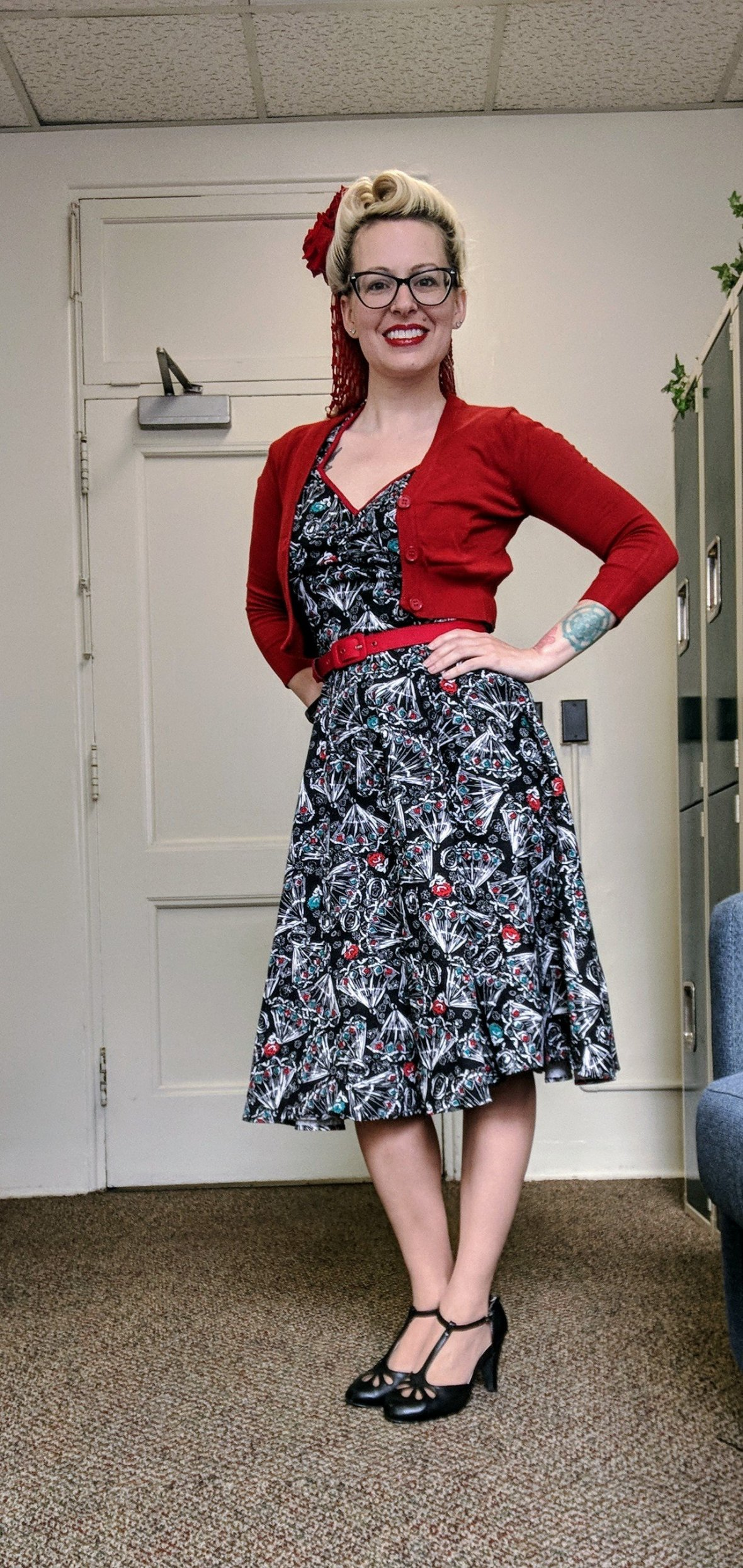 Spanish Fan Heidi Dress by Pinup Coutore for Pinup Girl Clothing