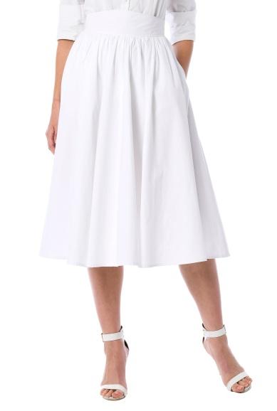 White Vintage Inspired Skirt from Eshakti